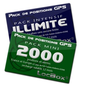Bouquet de packs de positions pour balise GPS Locbox