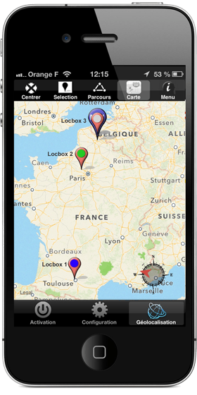 Application mobile Geotraceur mobile pour iphone